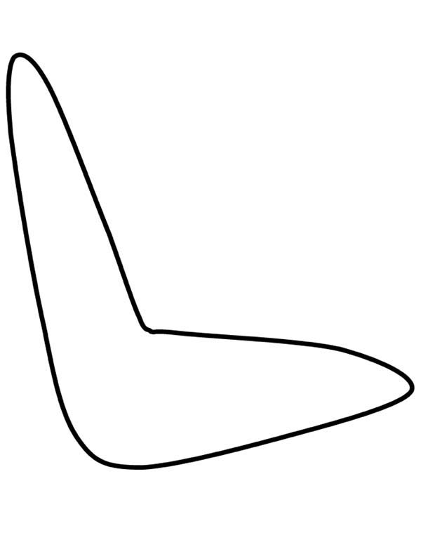 Boomerang, : How to Draw a Boomerang Coloring Page