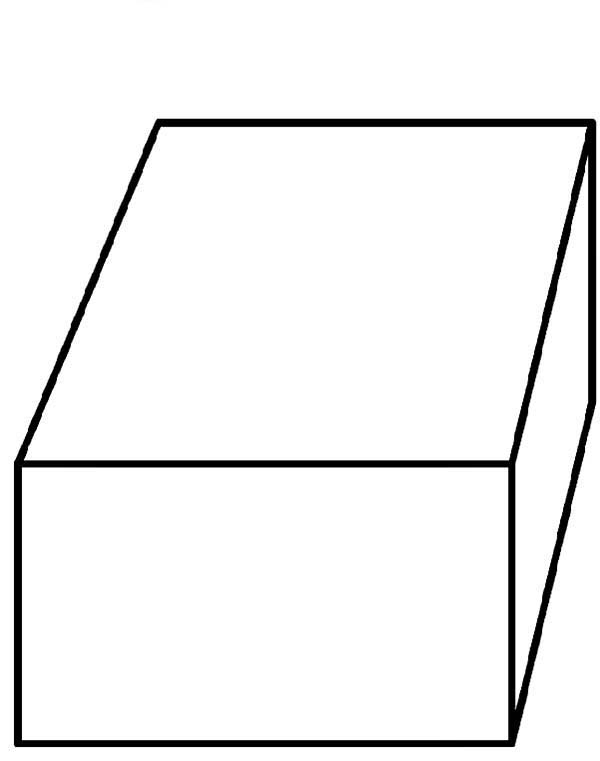 Box, : How to Draw a Box Coloring Page