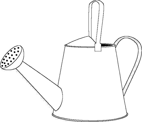 Watering Can, : How to Draw a Watering Can Coloring Page