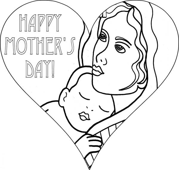 Mothers Day, : I Love You Mommy on Mothers Day Coloring Page