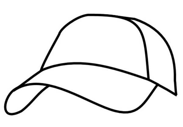 Baseball Cap, : Image of Baseball Cap Coloring Page