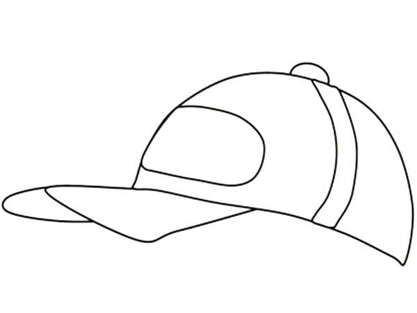 Baseball Cap, : Kids Drawing of Baseball Cap Coloring Page