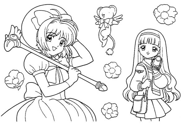 Cardcaptor Sakura, : Kids Drawing of Cardcaptor Sakura Coloring Page