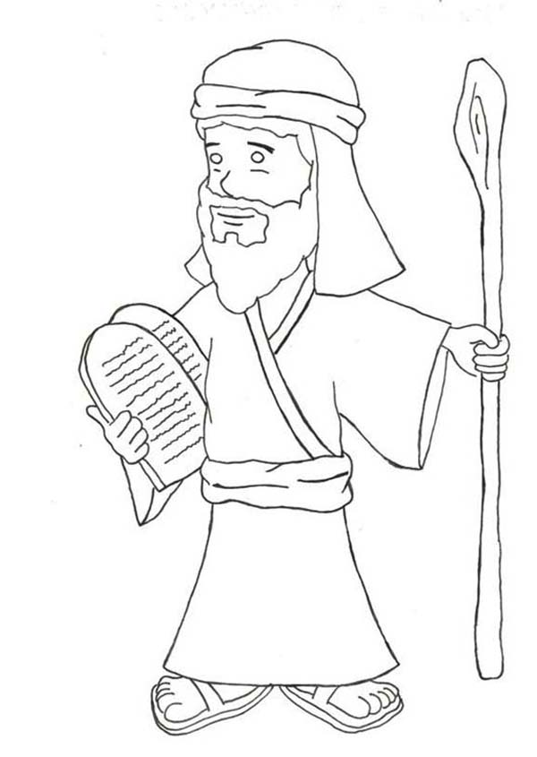 Kids Drawing of Ten Commandments Coloring Page | Coloring Sun