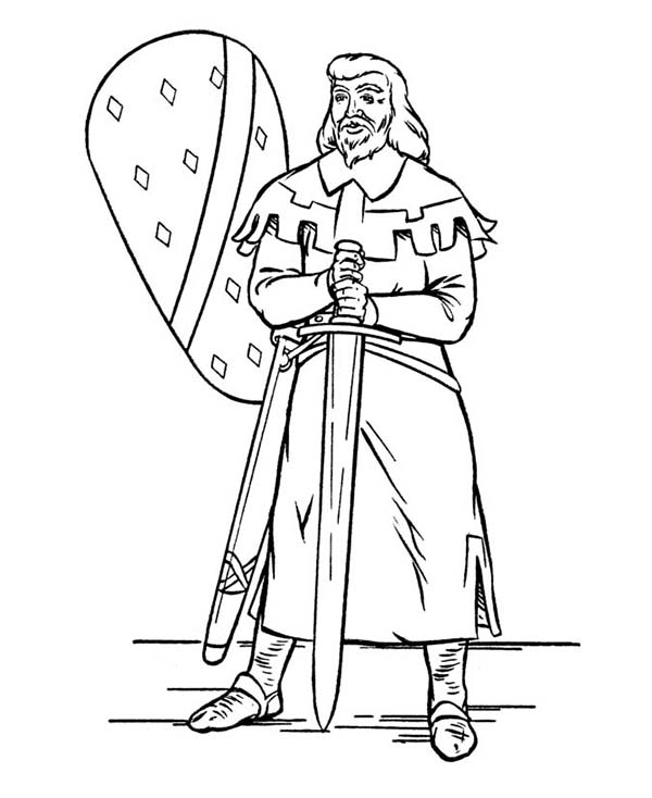 Armor of God, : King Without Armor of God Coloring Page