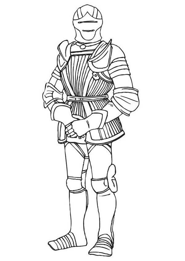 Armor of God, : Knight in Armor of God Coloring Page