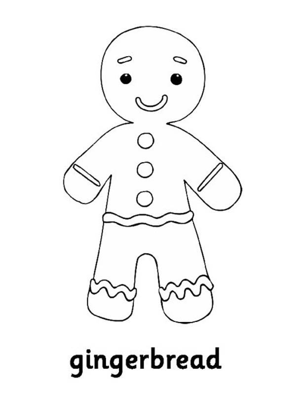 Gingerbread Men, : Little Gingerbread Men Coloring Page