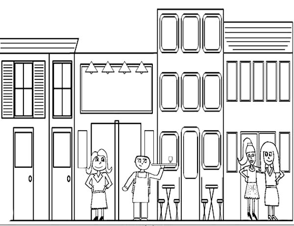free coloring pages community buildings