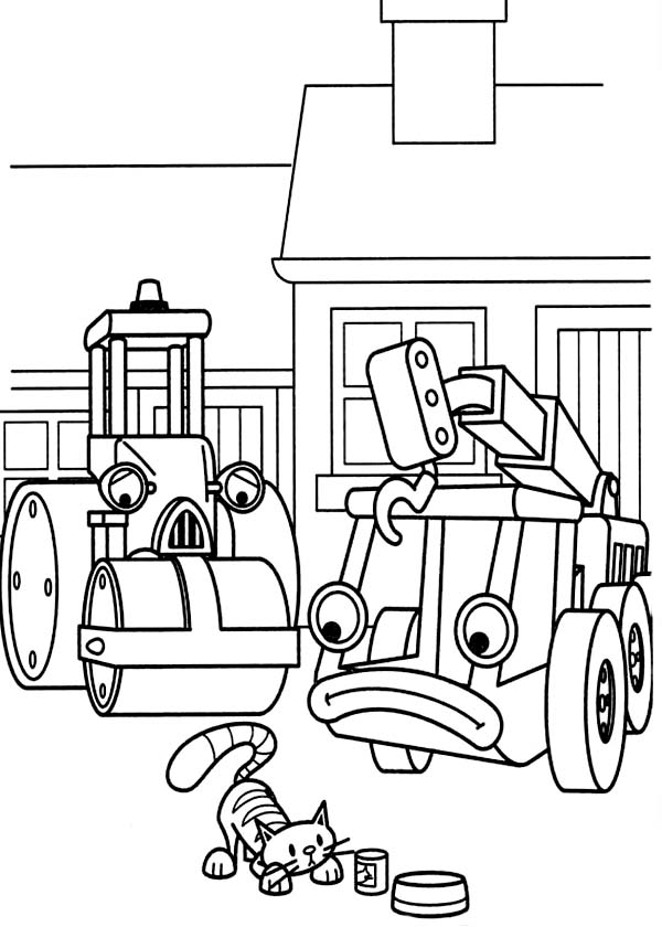 Bob the Builder, : Lofty and Roley Watch Bob the Builder Pet Play Coloring Page