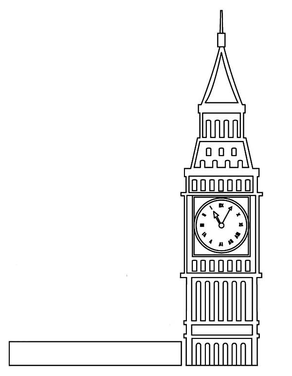 Big Ben, : Londons Proud Big Ben Coloring Page
