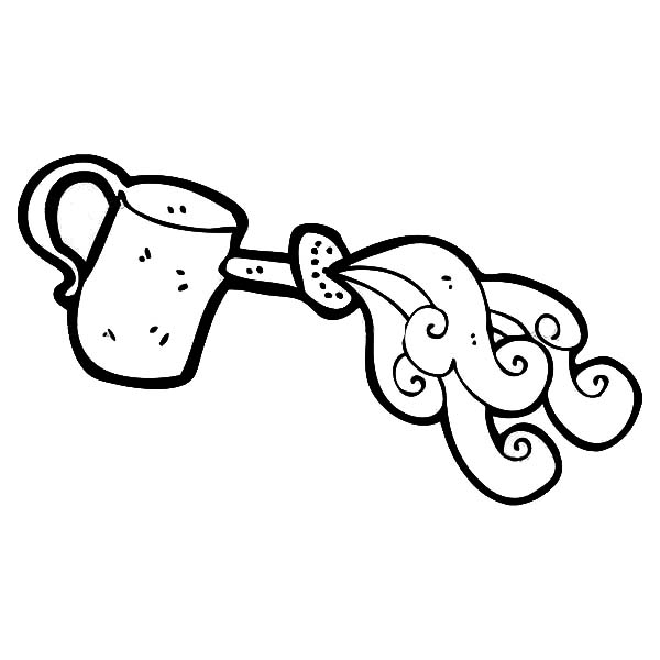 Watering Can, : Magic Watering Can Coloring Page