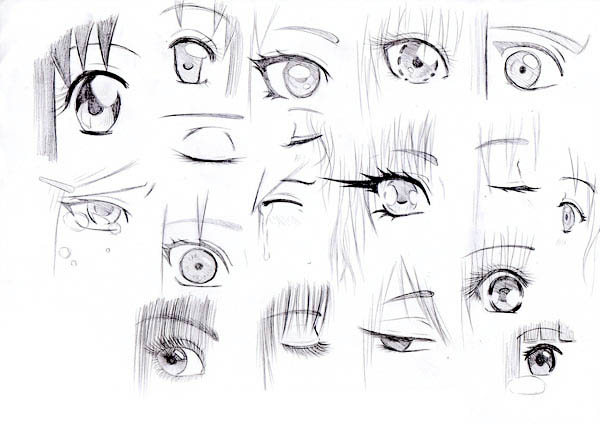 manga eye coloring pages - photo#10