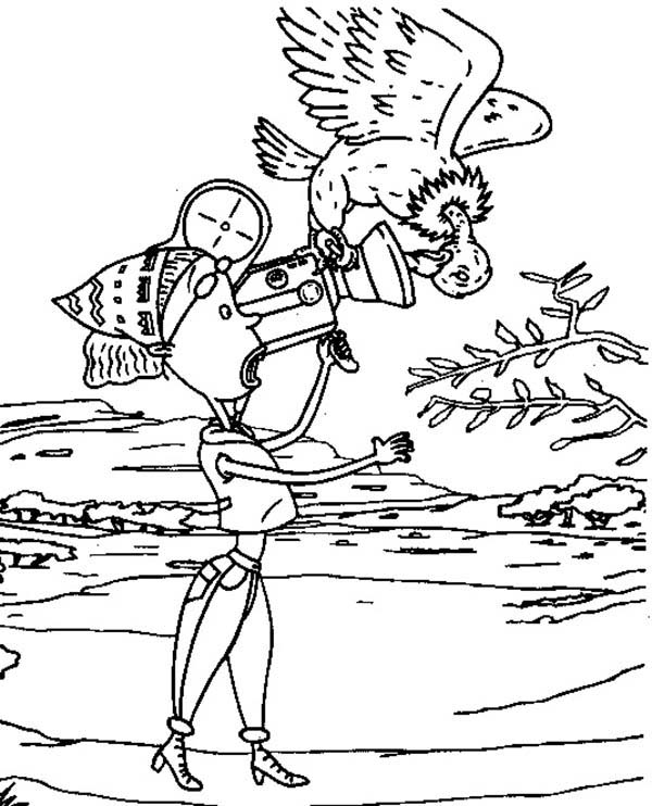Thornberrys, : Marianne Shooting on Birds Life in the Thornberrys Coloring Page