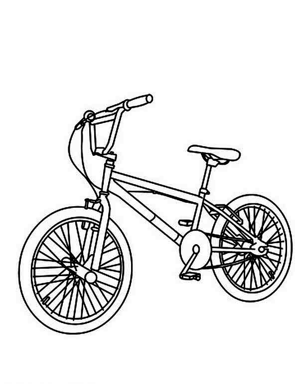 Bicycle, : Mountain Bicycle Coloring Page