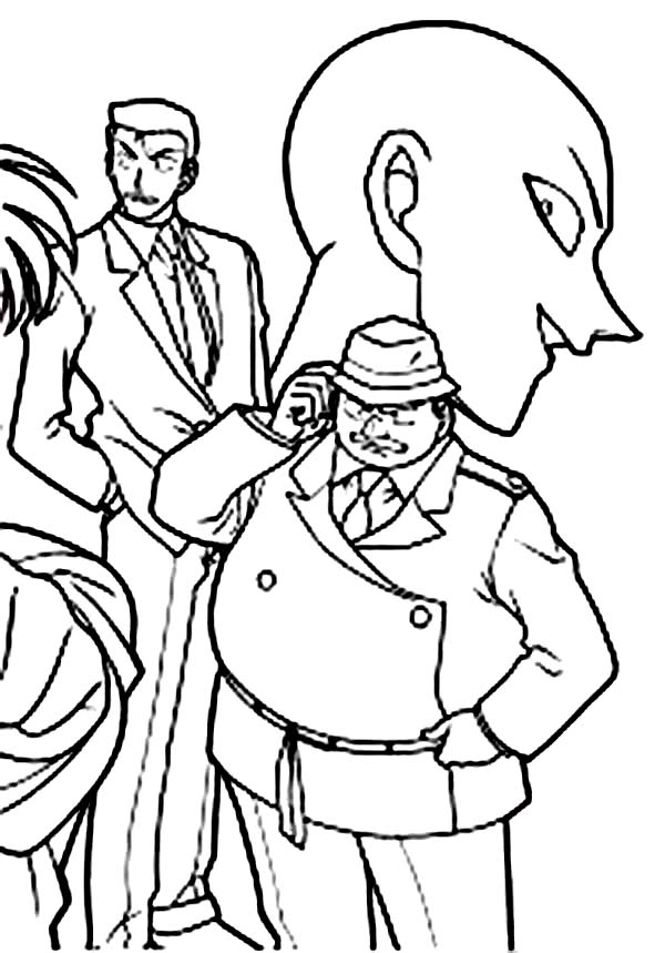 Detective Conan, : Mysterious Case Need to be Solved in Detective Conan Coloring Page