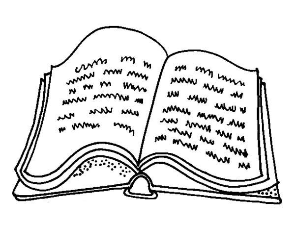 Books, : Note Book Coloring Page