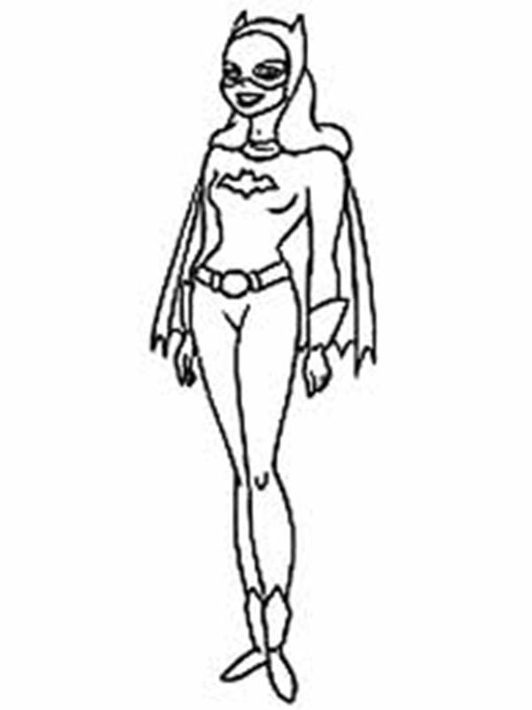 One of batman partner batgirl coloring page