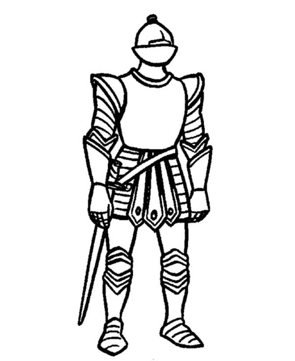 Armor of God, : Picture Armor of God Coloring Page