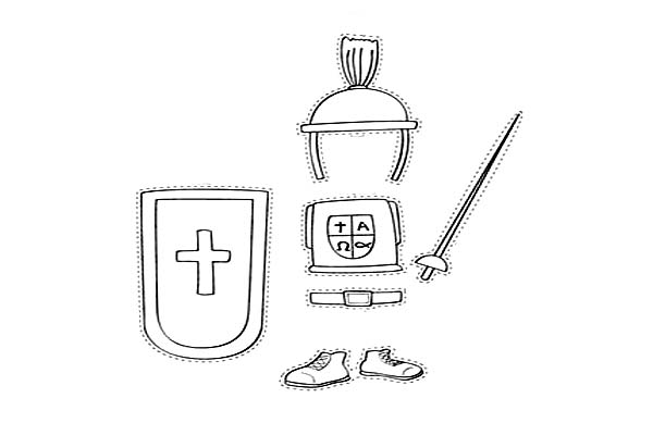 Armor of God, : Picture of Armor of God Coloring Page