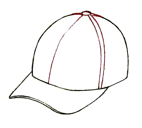 Baseball Cap, : Picture of Baseball Cap Coloring Page