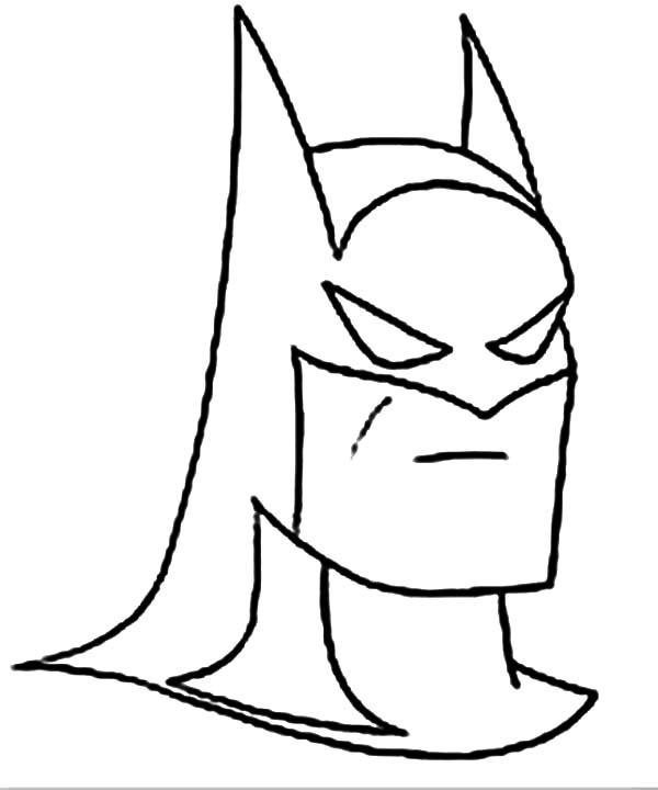 Batman, : Picture of Batman Head Coloring Page