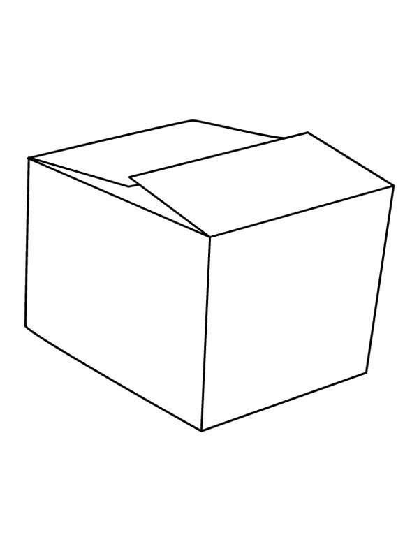 Box, : Picture of Box Coloring Page