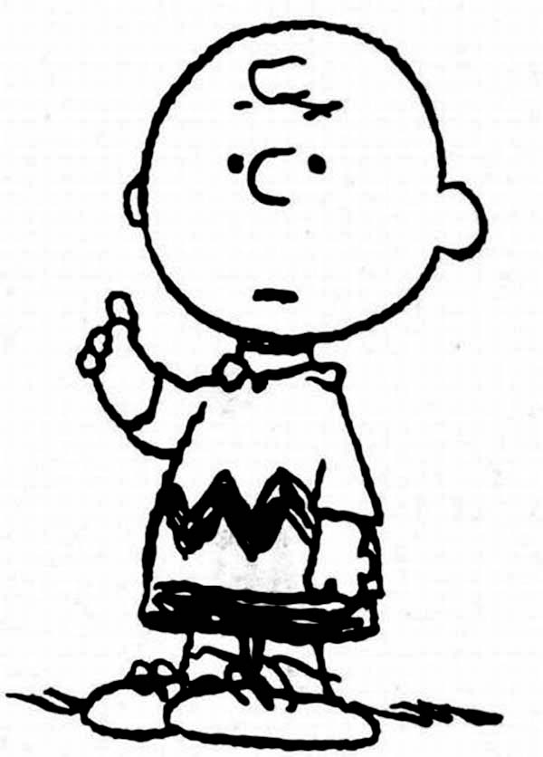 Picture of Charlie Brown Coloring Page | Coloring Sun