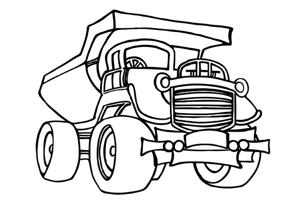 Construction, : Picture of Construction Truck Coloring Page