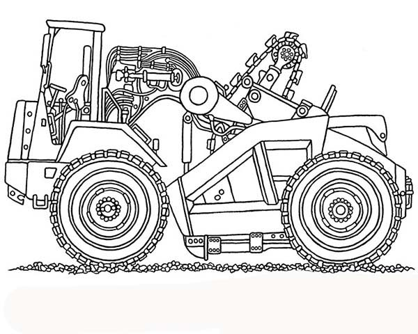 Construction, : Picture of Dump Truck for Construction Work Coloring Page
