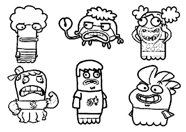 Fish Hooks, : Picture of Fish Hooks Characters Coloring Page