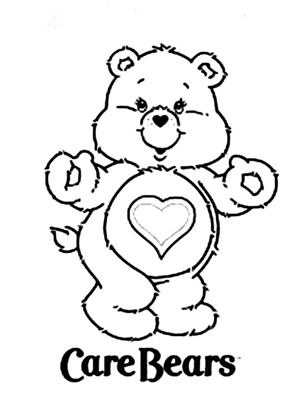 Care Bear, : Picture of Tenderheart Bear of Care Bear Coloring Page