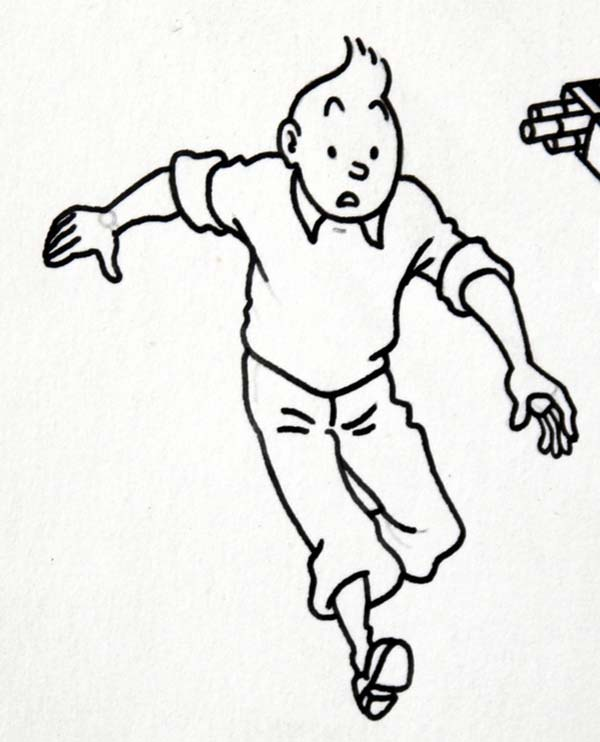 Picture of Tintin Coloring Page Coloring Sun