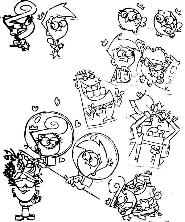 The Fairly Odd Parents, : Picture of the Fairly Odd Parents Activity Coloring Page