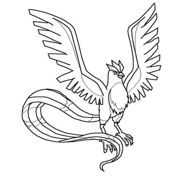 The Gallery For Gt Articuno Coloring Pages Articuno Coloring Pages
