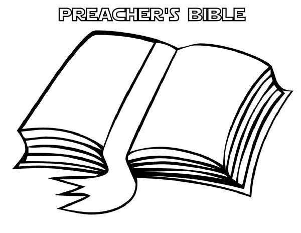 Books, : Preachers Bible Book Coloring Page