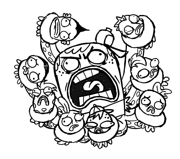 Fish Hooks, : Rage of Joctopus in Fish Hooks Coloring Page