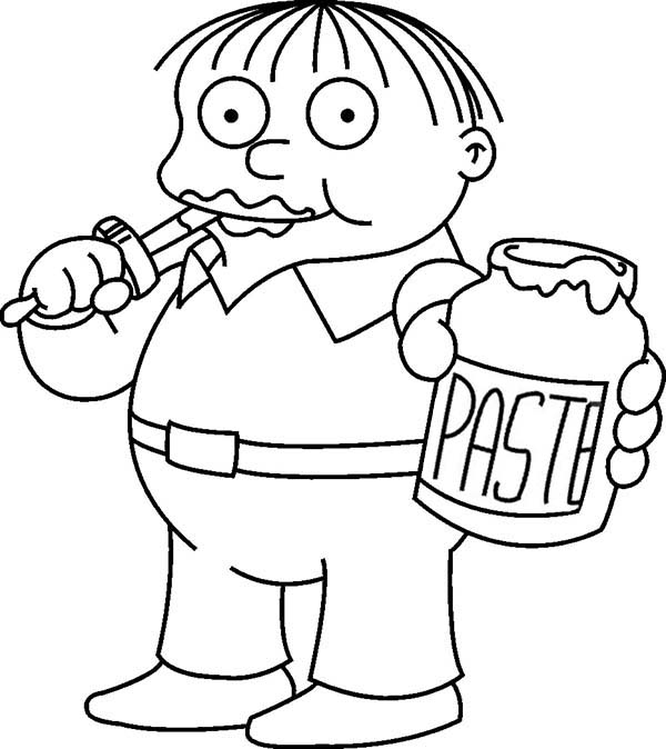 The Simpsons, : Ralph Wiggum from the Simpsons Coloring Page