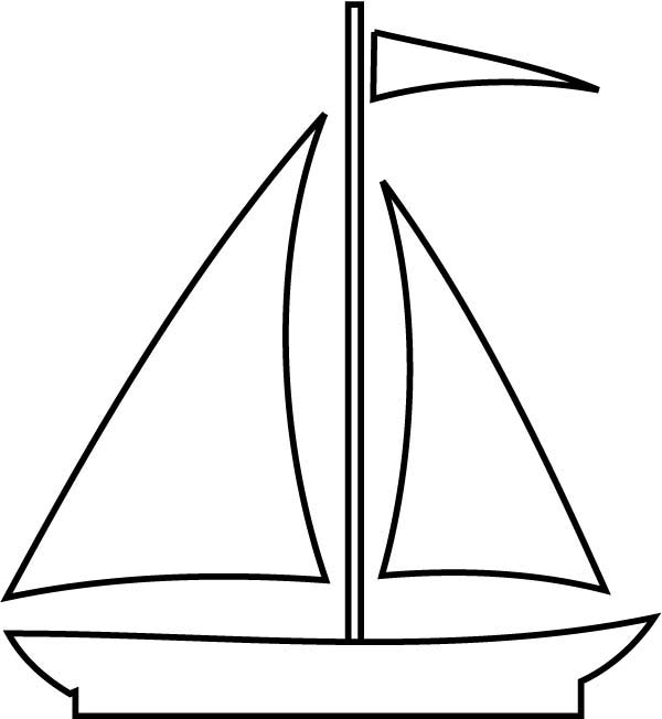 Boat, : Sail Boat Picture Coloring Page