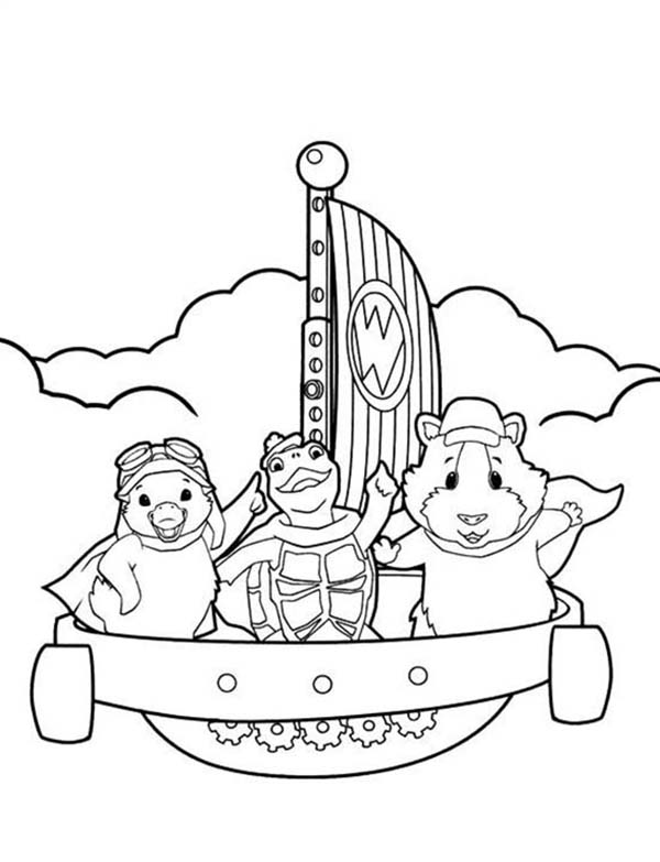 The Wonder Pets, : Sali Across the Eas in Wonder Pets Coloring Page