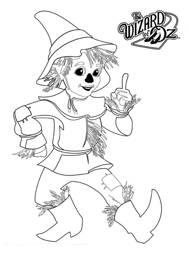 The Wizard of Oz, : Scarecrow from the Wizard of Oz Coloring Page