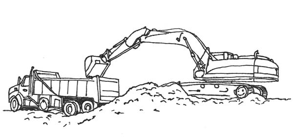 road construction equipment coloring pages - photo#29