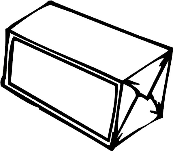 Box, : Simple Empty Box Coloring Page