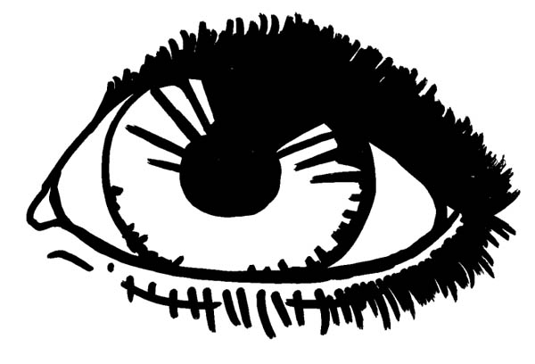 Eyes, : Sketch of Eyes Coloring Page