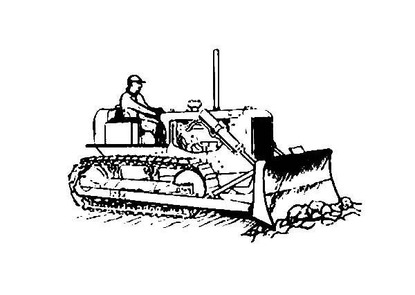 Bulldozer, : Slug Bulldozer Coloring Page