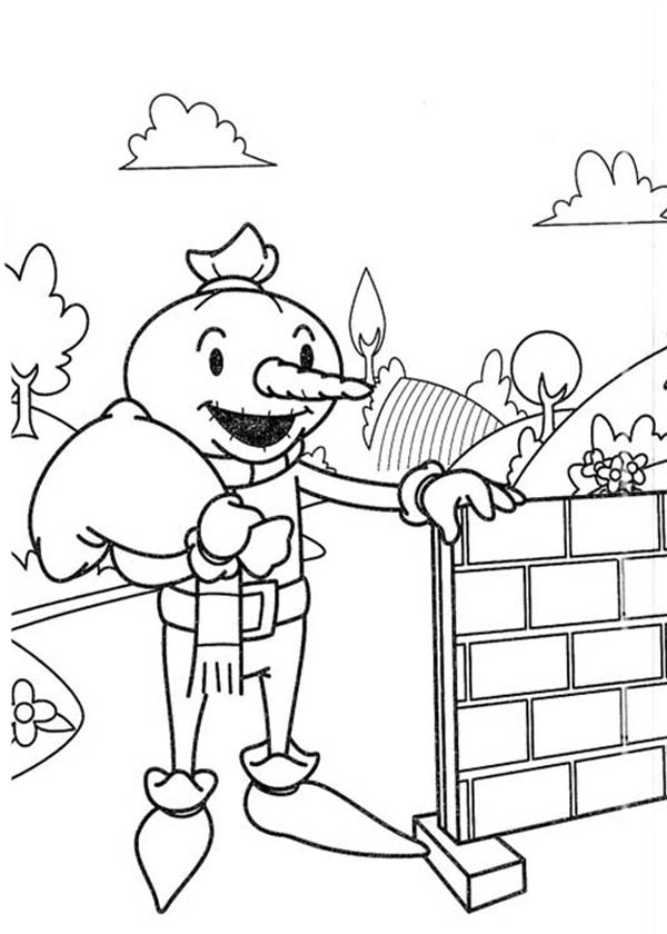 Bob the Builder, : Spud the Scarecrow Want to Help Bob the Builder Coloring Page
