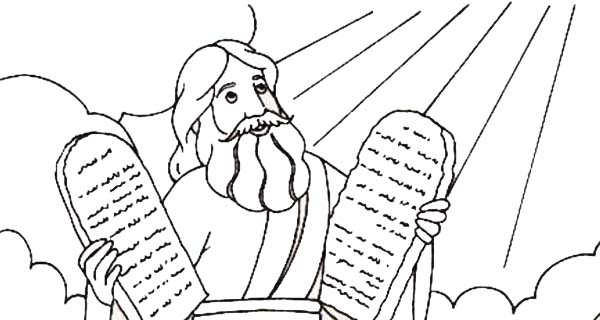 Free coloring pages of stone tablets for Free printable ten commandments coloring pages