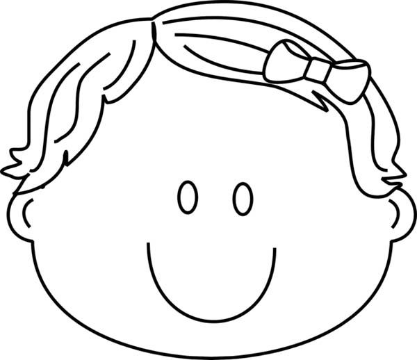 Face, : Sweet Smile Face Coloring Page