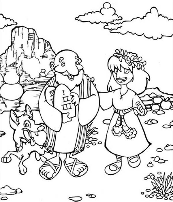 Ten Commandments Coloring Page | Coloring Sun