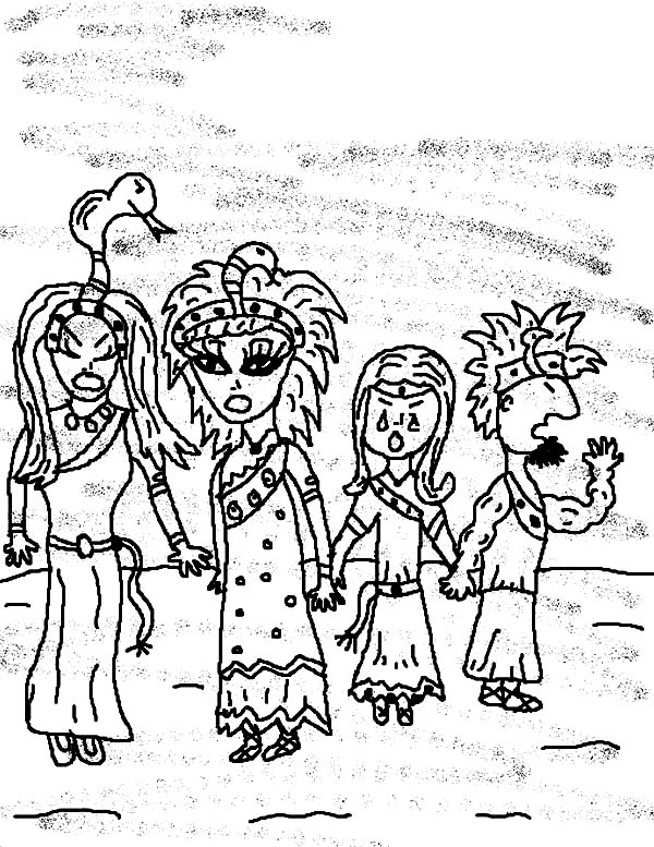 10 Plagues of Egypt, : The 10 Plagues of Egypt Darkness Coloring Pages