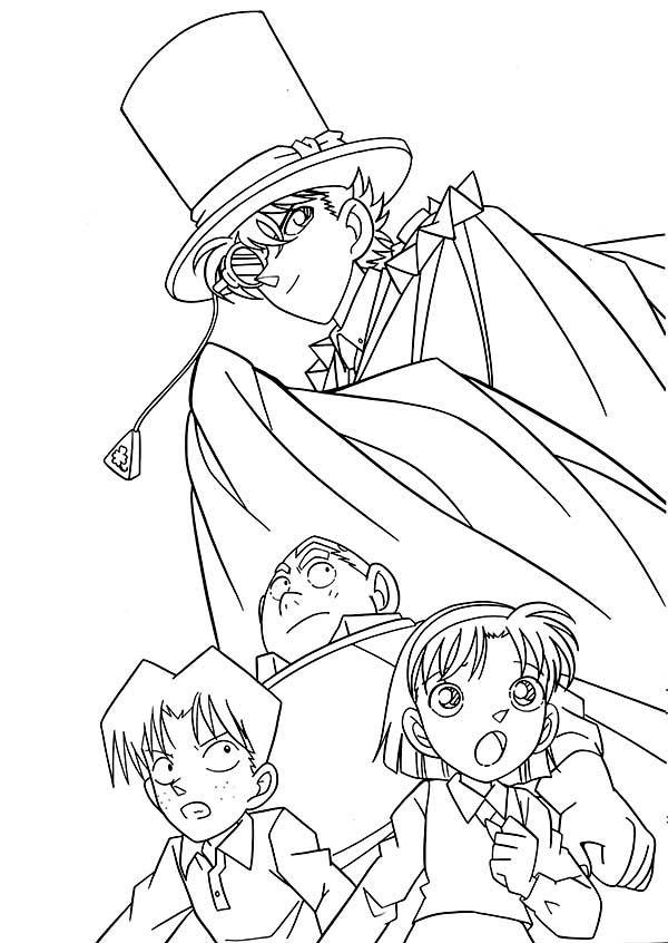 Detective Conan, : The Adventure of Detective Conan Coloring Page